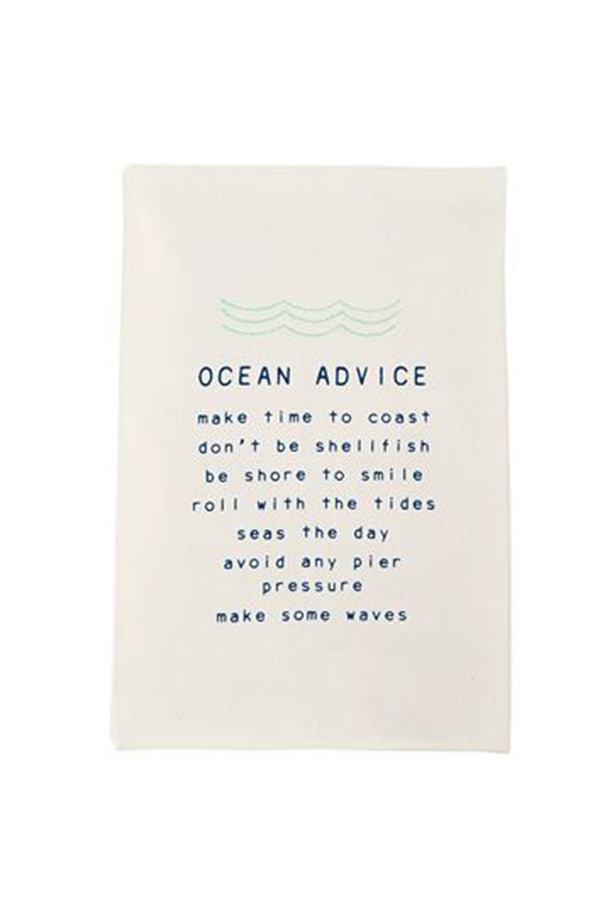 Cute Dish Towel - Ocean Advice