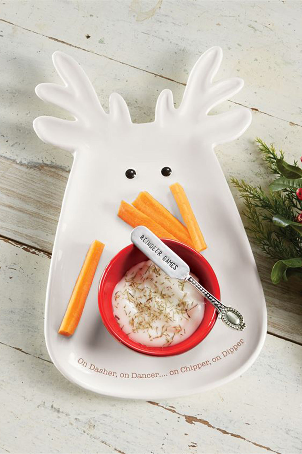 Reindeer Chip & Dip Set