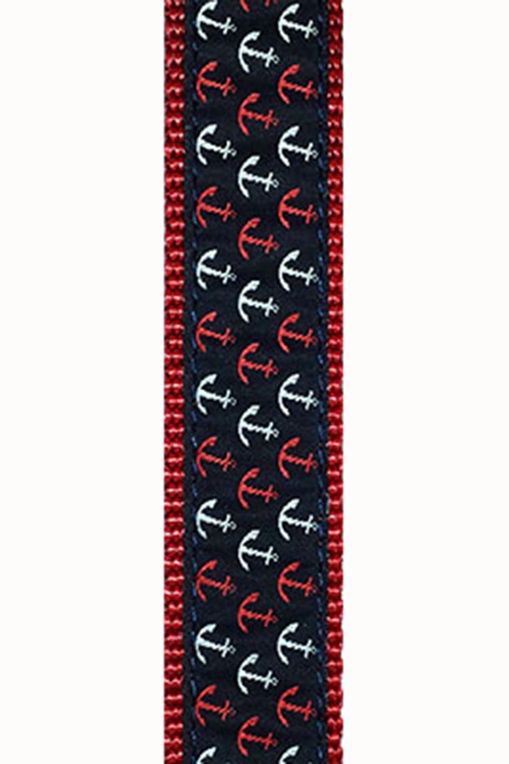 Dog Collar - Red White Blue Anchor