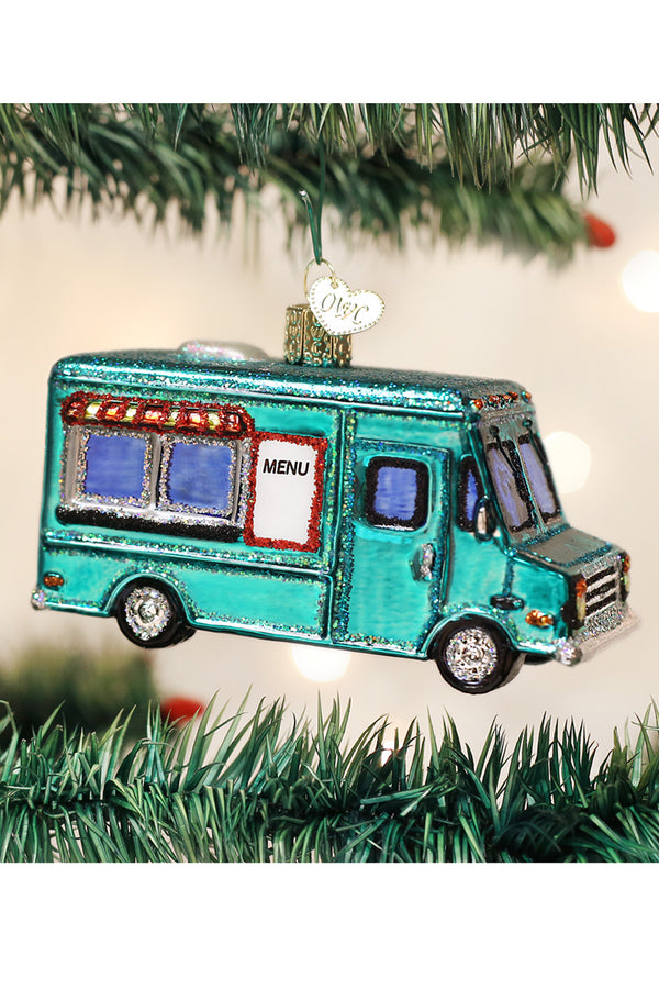 Glass Ornament - Food Truck