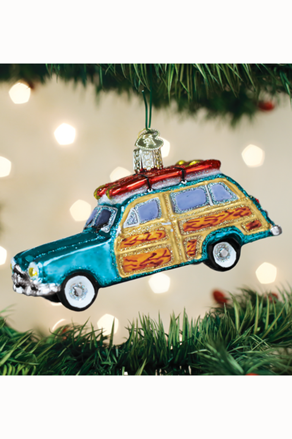 Glass Ornament - Surf's Up Wagon
