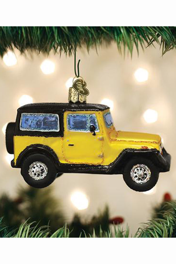 Glass Ornament - Jeep