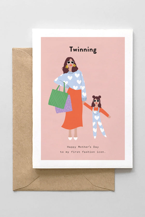Mother's Day Greeting Card - Twinning