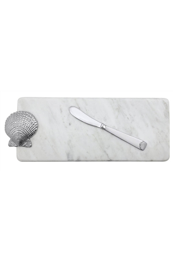 Marble Server & Spreader - Scallop