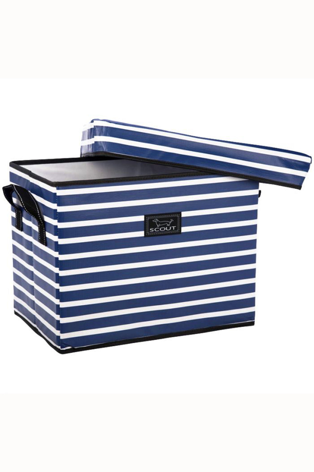 "Medium Rump Roost Lidded Storage Bin - ""Nantucket Navy"" SP21 / SUM21"