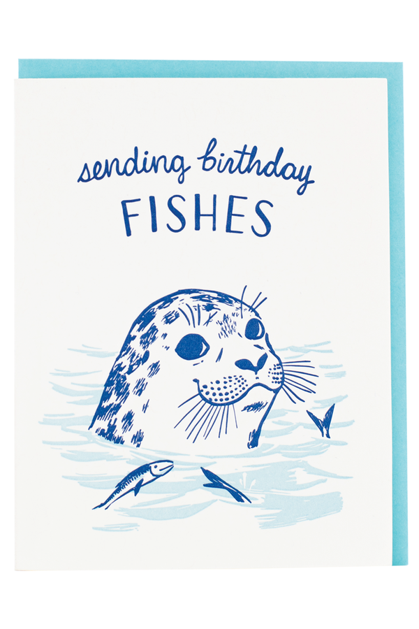 Smudgey Greeting Card - Seal Bday