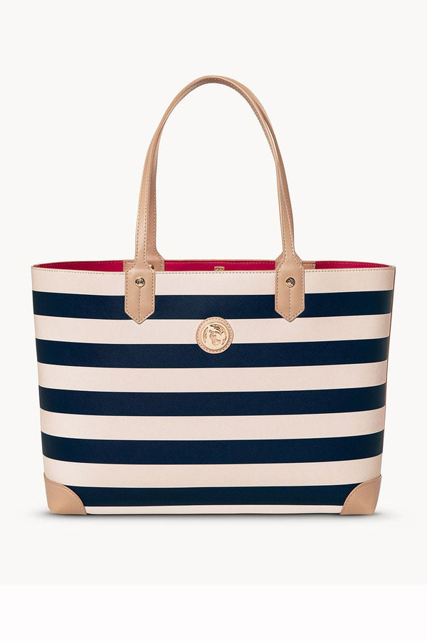 Classic Tote Bag - Navy Stripe
