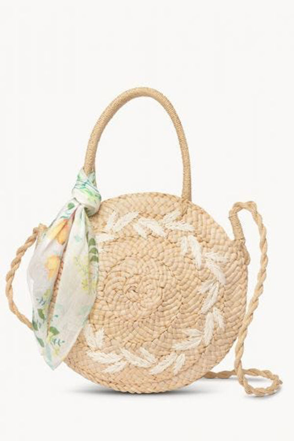 Round Straw Tote - River House