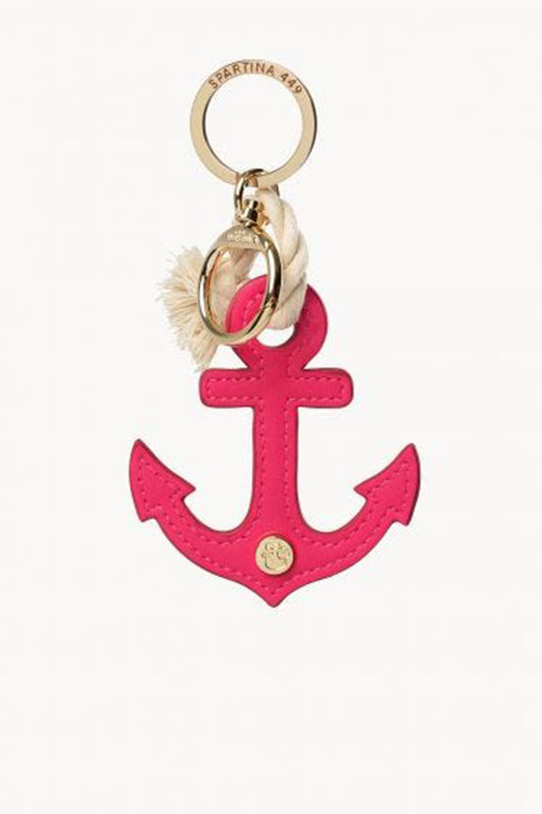 Pink Anchor Icon Keychain
