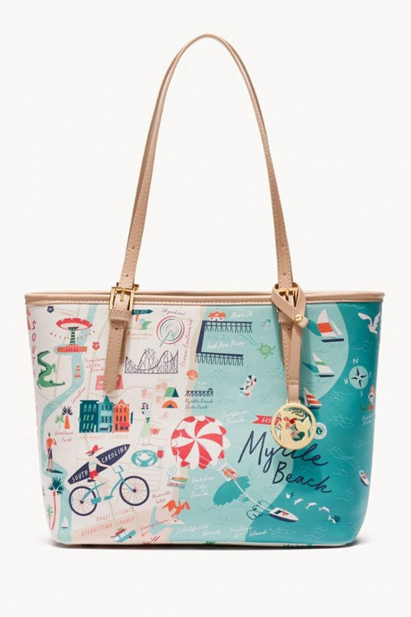 Destination Map Small Tote Bag - Myrtle Beach