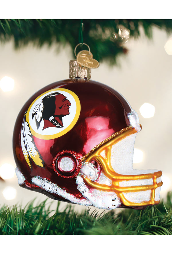 Glass Ornament - Washington DC Redskins Helmet