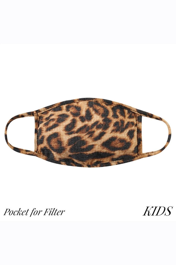 CHILD SIZE Cloth Face Mask - Leopard