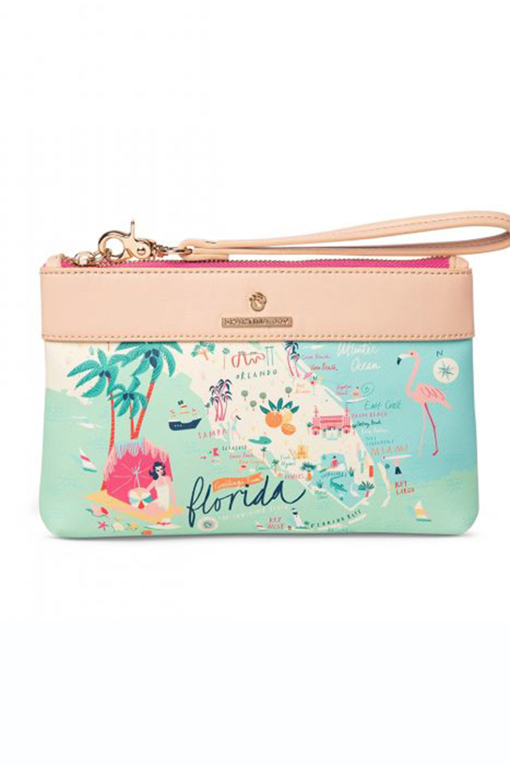 Destination Map Scouty Wristlet - Florida