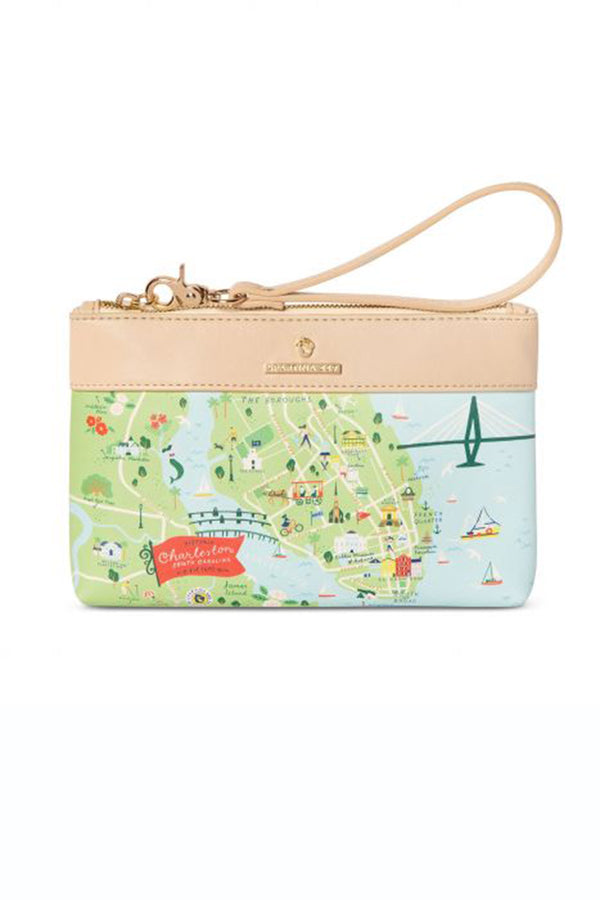 Destination Map Scouty Wristlet - Charleston