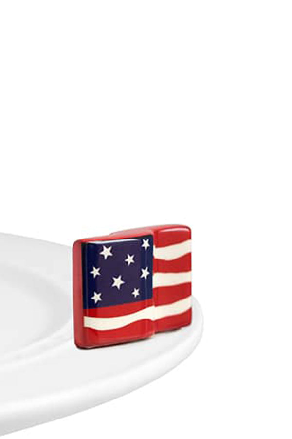 Nora Fleming Mini Attachment - Stars & Stripes Flag