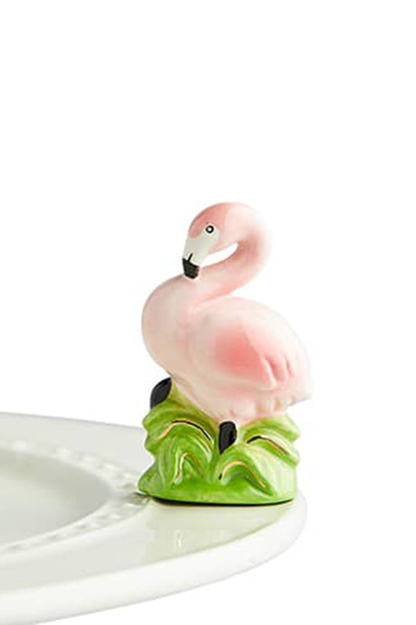 Nora Fleming Mini Attachment - Tickled Pink Flamingo