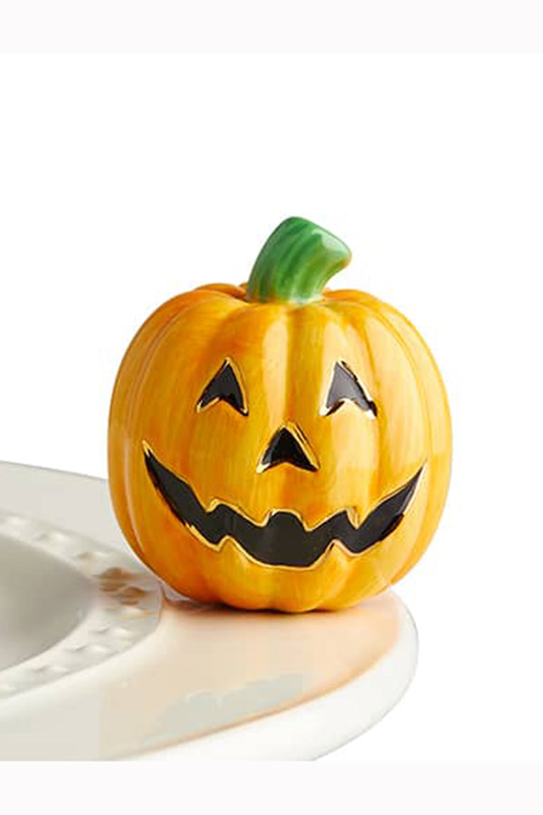 Nora Fleming Mini Attachment - Carved Cutie Jack-O-Lantern Pumpkin