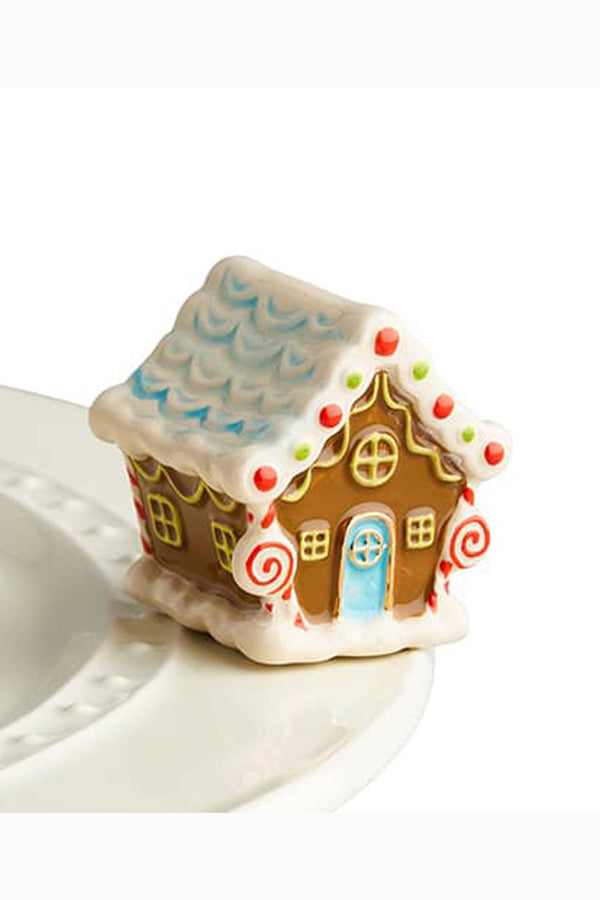 Nora Fleming Mini Attachment - Candyland Gingerbread House