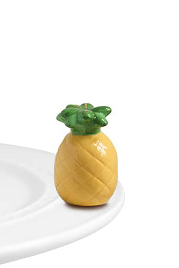 Nora Fleming Mini Attachment - Welcome, Friends Pineapple