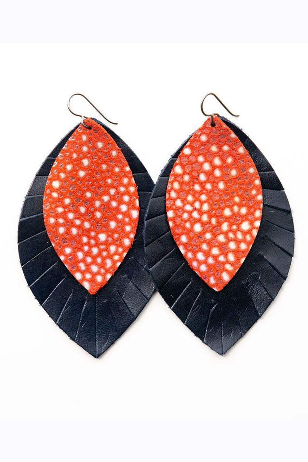 KEVA Double XL Earring - Speckled Navy