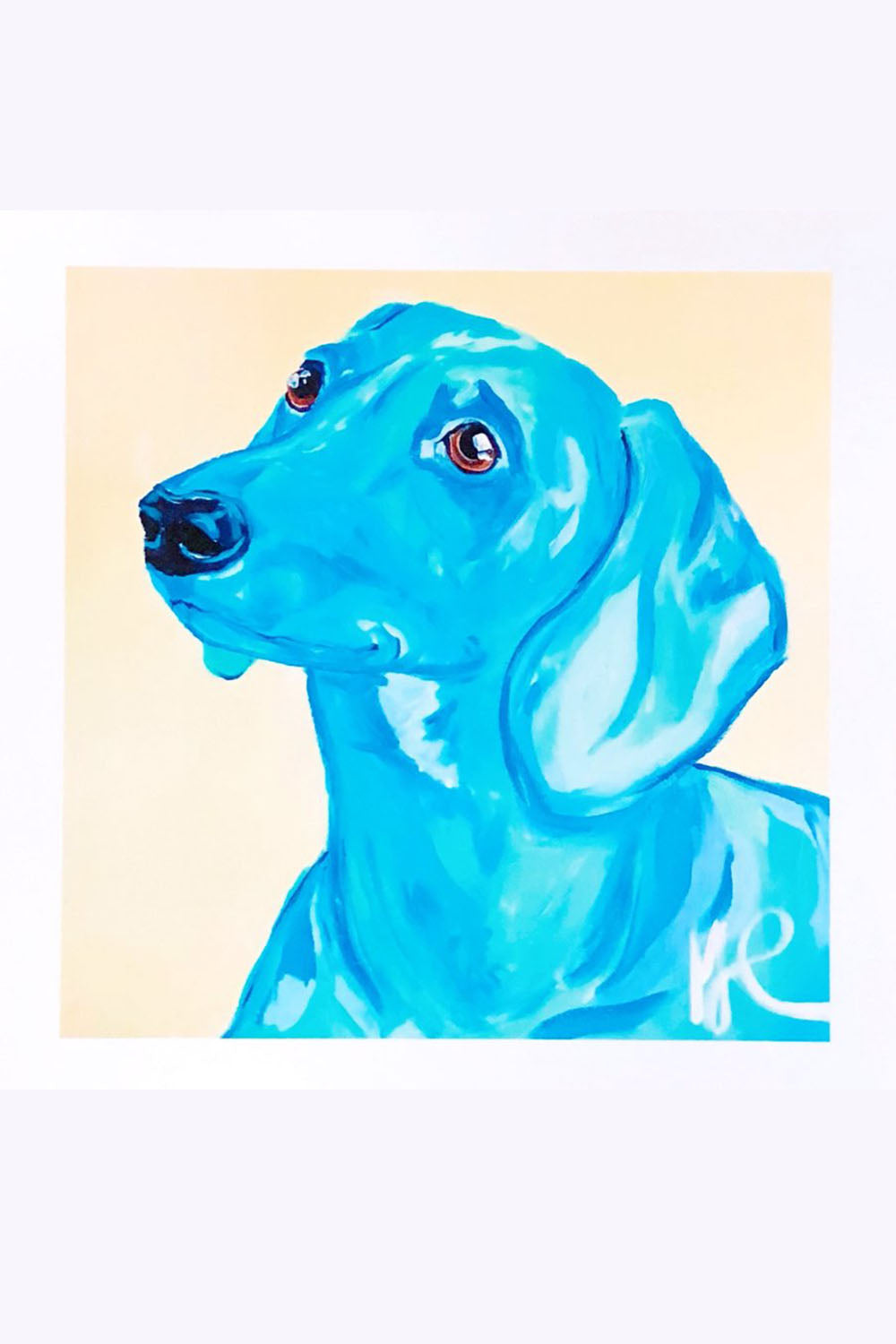 Whimsy Carn Art Print - Snoop Dachshund