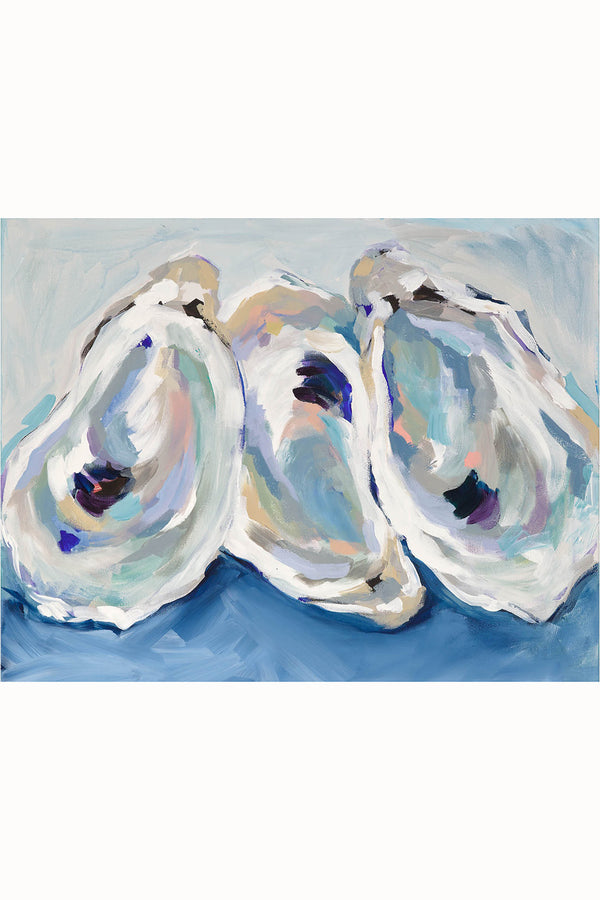Kim Hovell Matted Print - Annapolis Oysters
