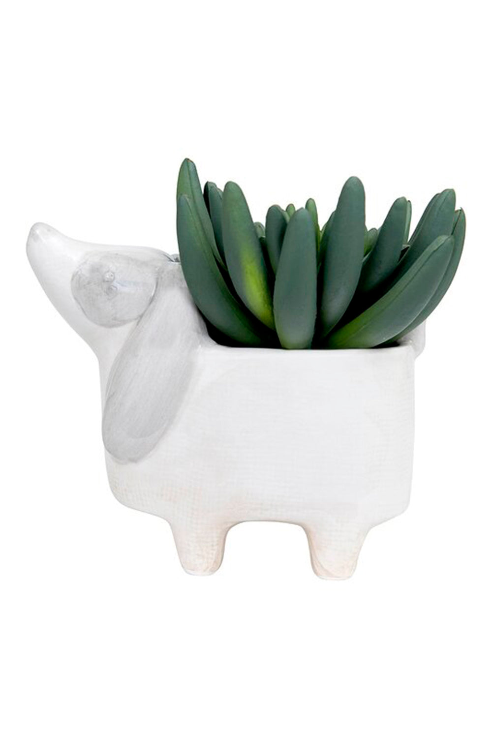 Mini Ceramic Dog Planter