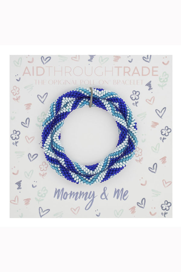 Mommy & Me Roll On Bracelet Set - Dolphin