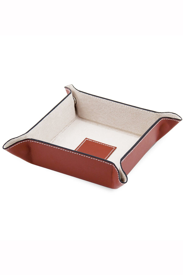 Travel Valet Tray - Saddle Brown