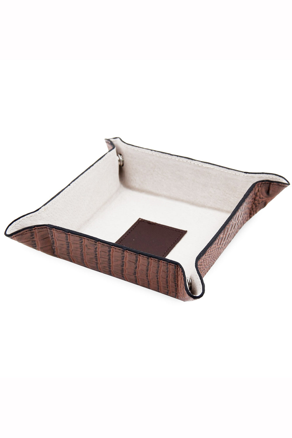 Travel Valet Tray - Brown Crocodile