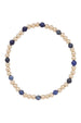 EN Sincerity Gold Pattern Bracelet - Sodalite