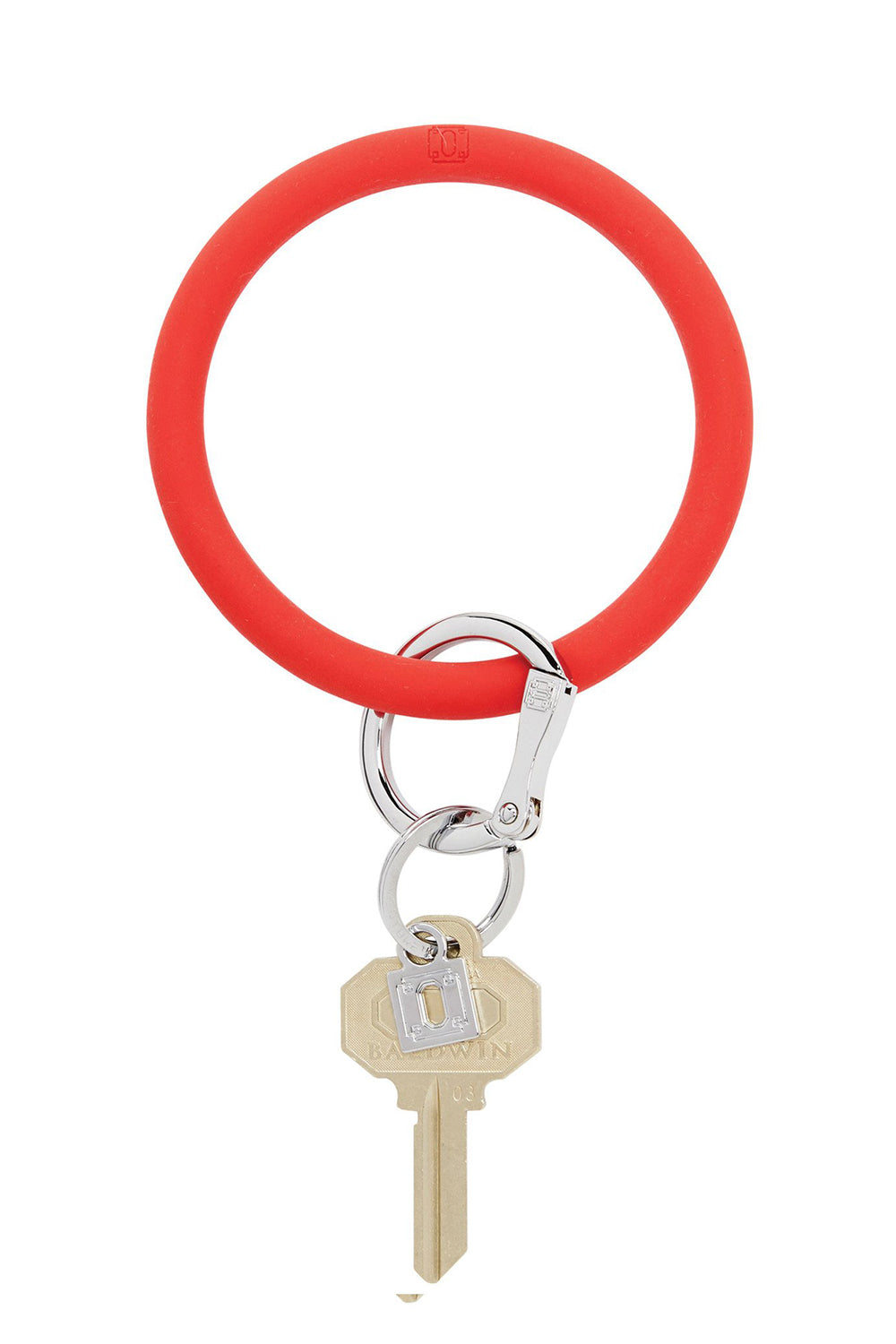 The BIG O Key Ring *Silicone* - Cherry on Top Red
