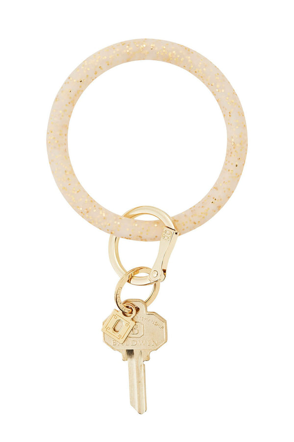 The BIG O Key Ring *Silicone* - Gold Confetti