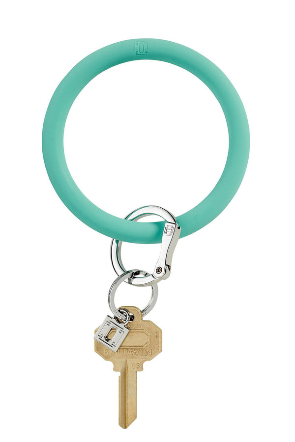The BIG O Key Ring *Silicone* - In the Pool Aqua