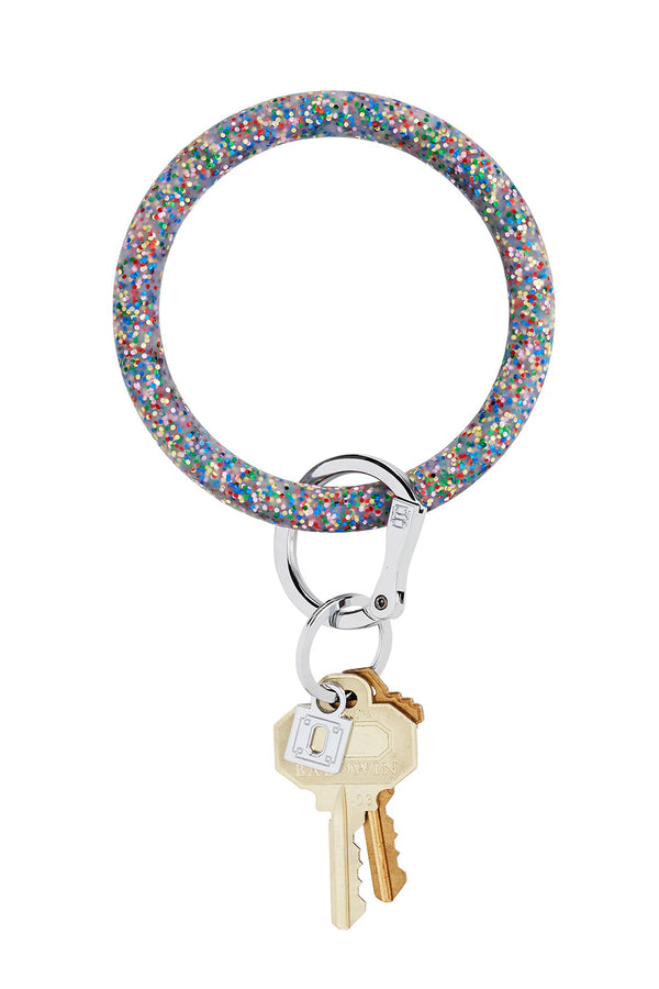 The BIG O Key Ring *Silicone* - Rainbow Confetti