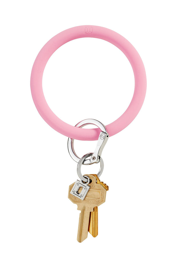 The BIG O Key Ring *Silicone* - Cotton Candy Pink