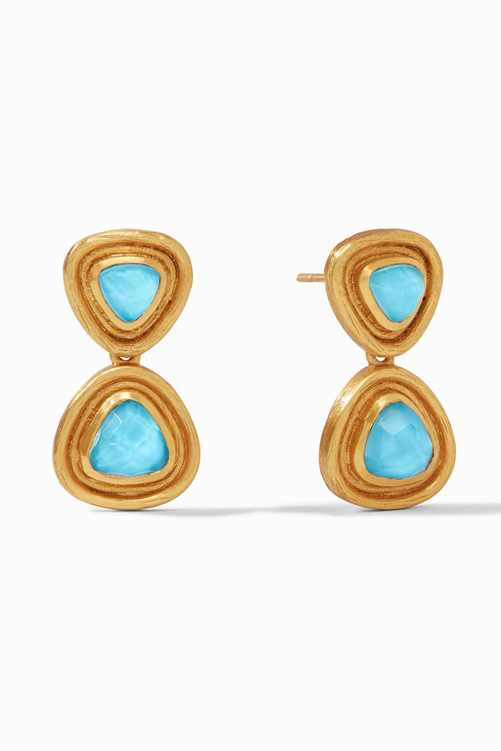 Julie Vos Barcelona Midi Earring - Pacific Blue