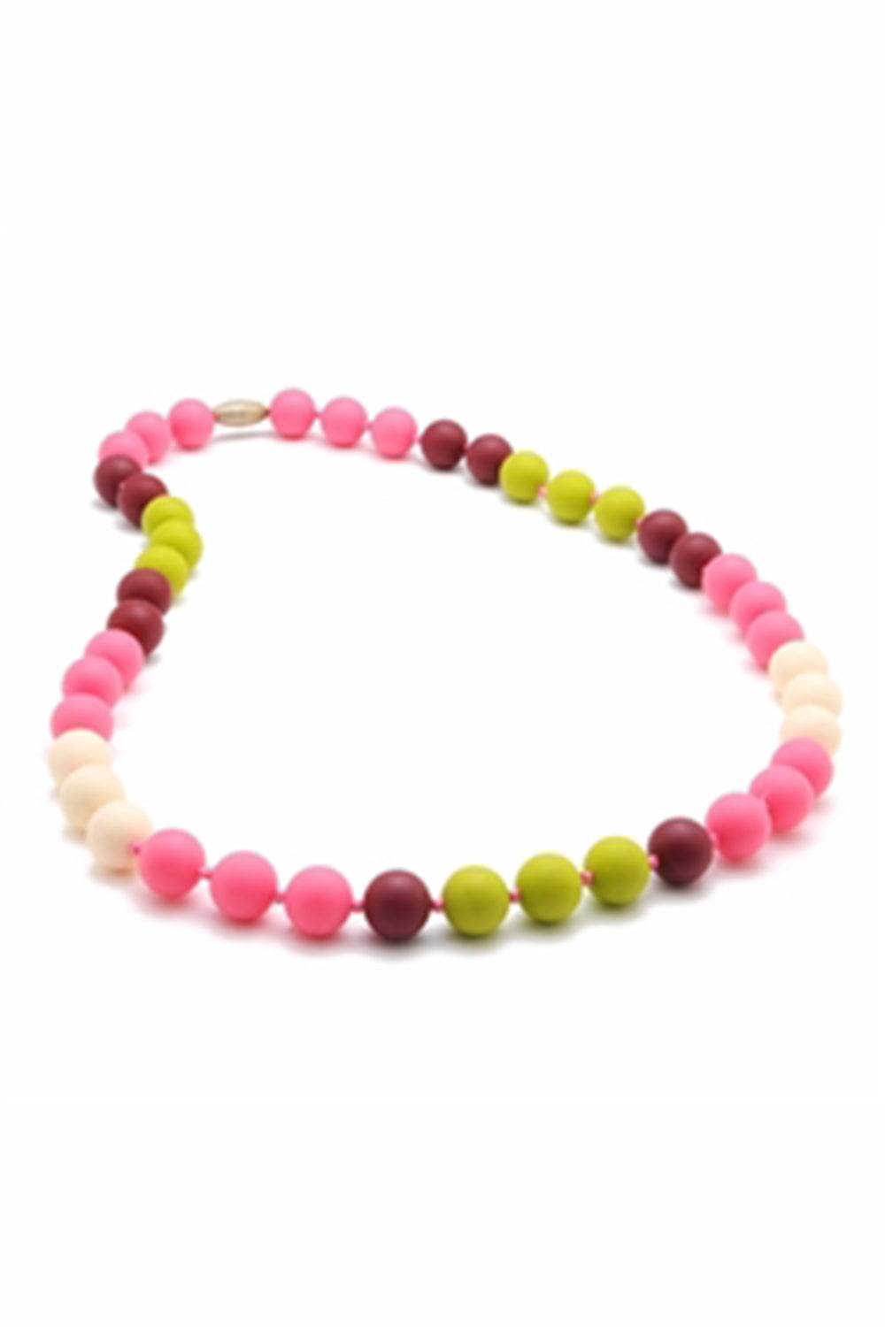 Bleecker Teething Necklace - Punchy Pink