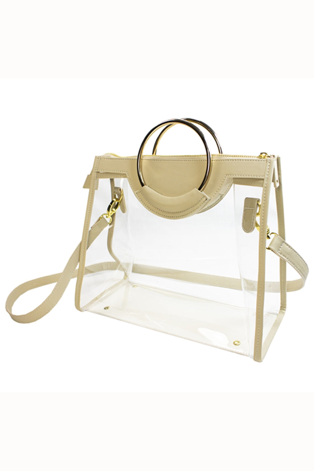 Clear Classic Ring Tote - Tan