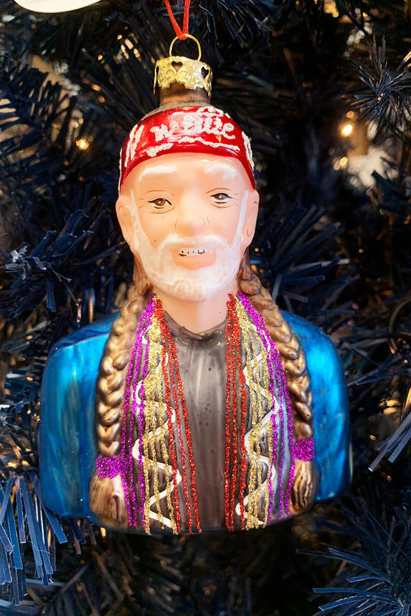 Glass Ornament - Willie Nelson