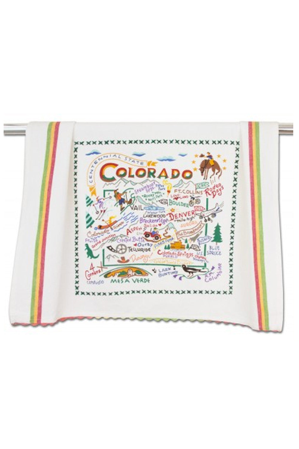 Embroidered Dish Towel  - Colorado