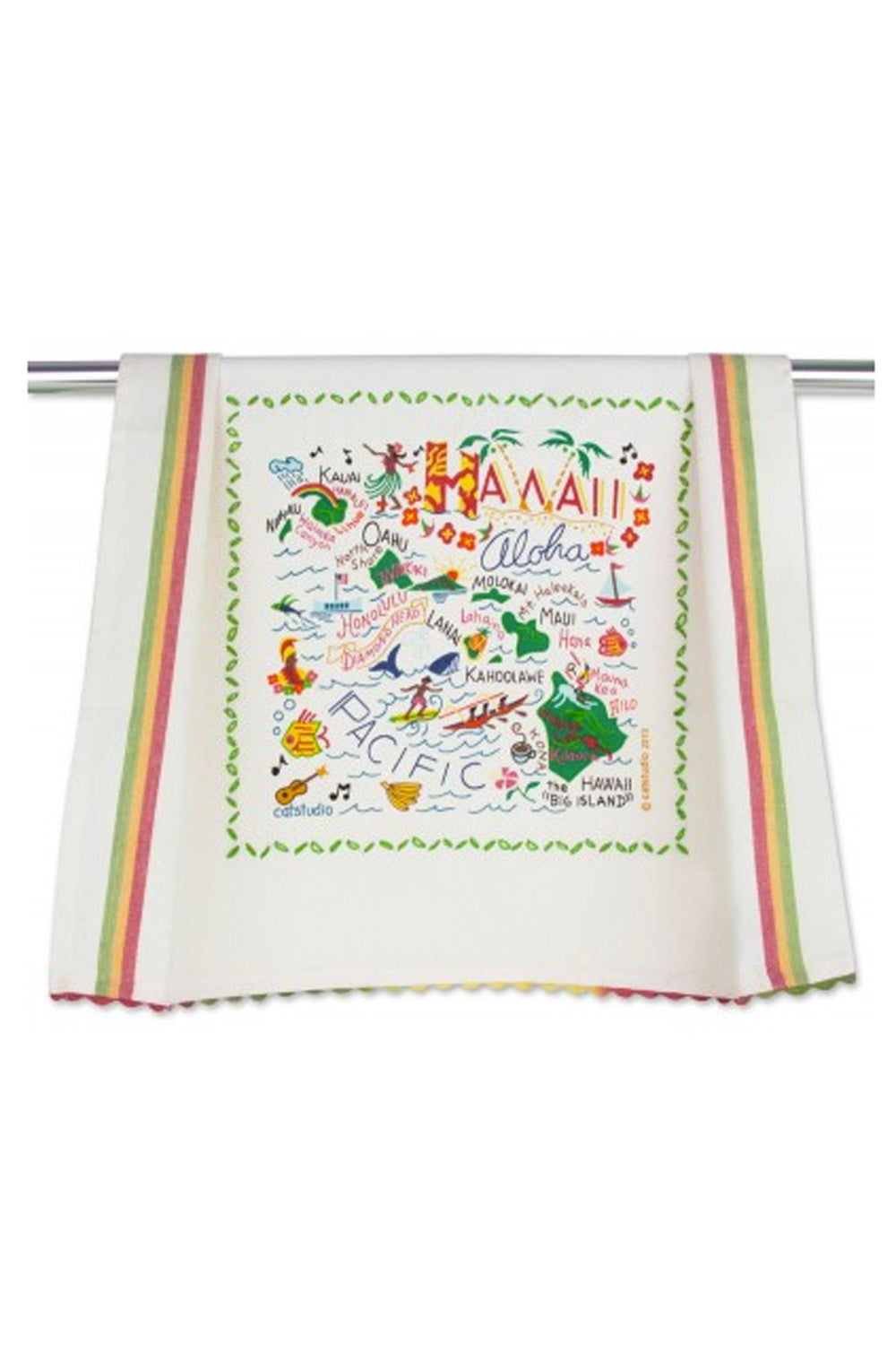 Embroidered Dish Towel  - Hawaii