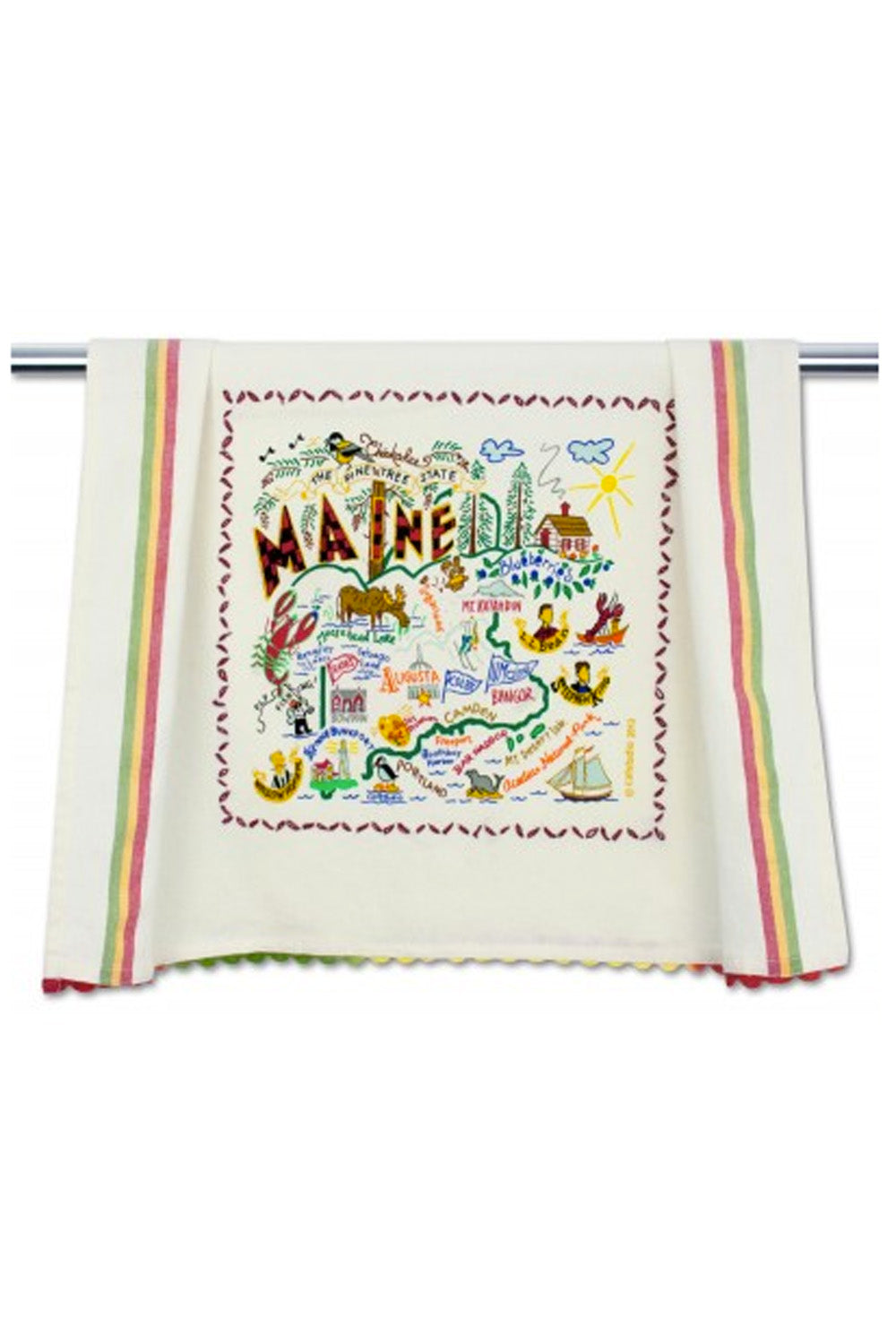 Embroidered Dish Towel  - Maine