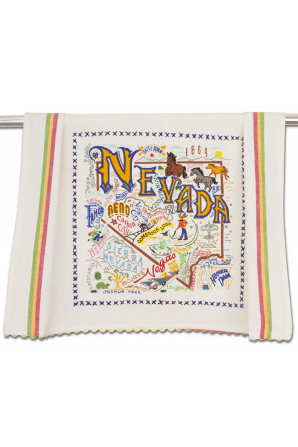 Embroidered Dish Towel - Nevada