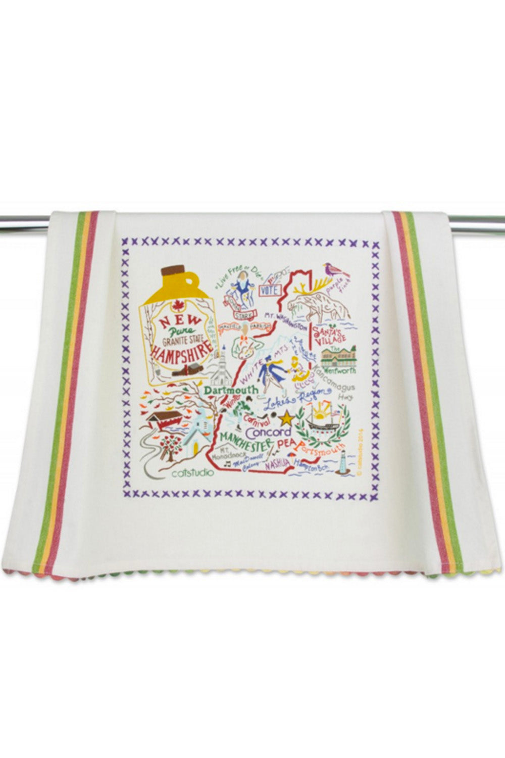 Embroidered Dish Towel - New Hampshire