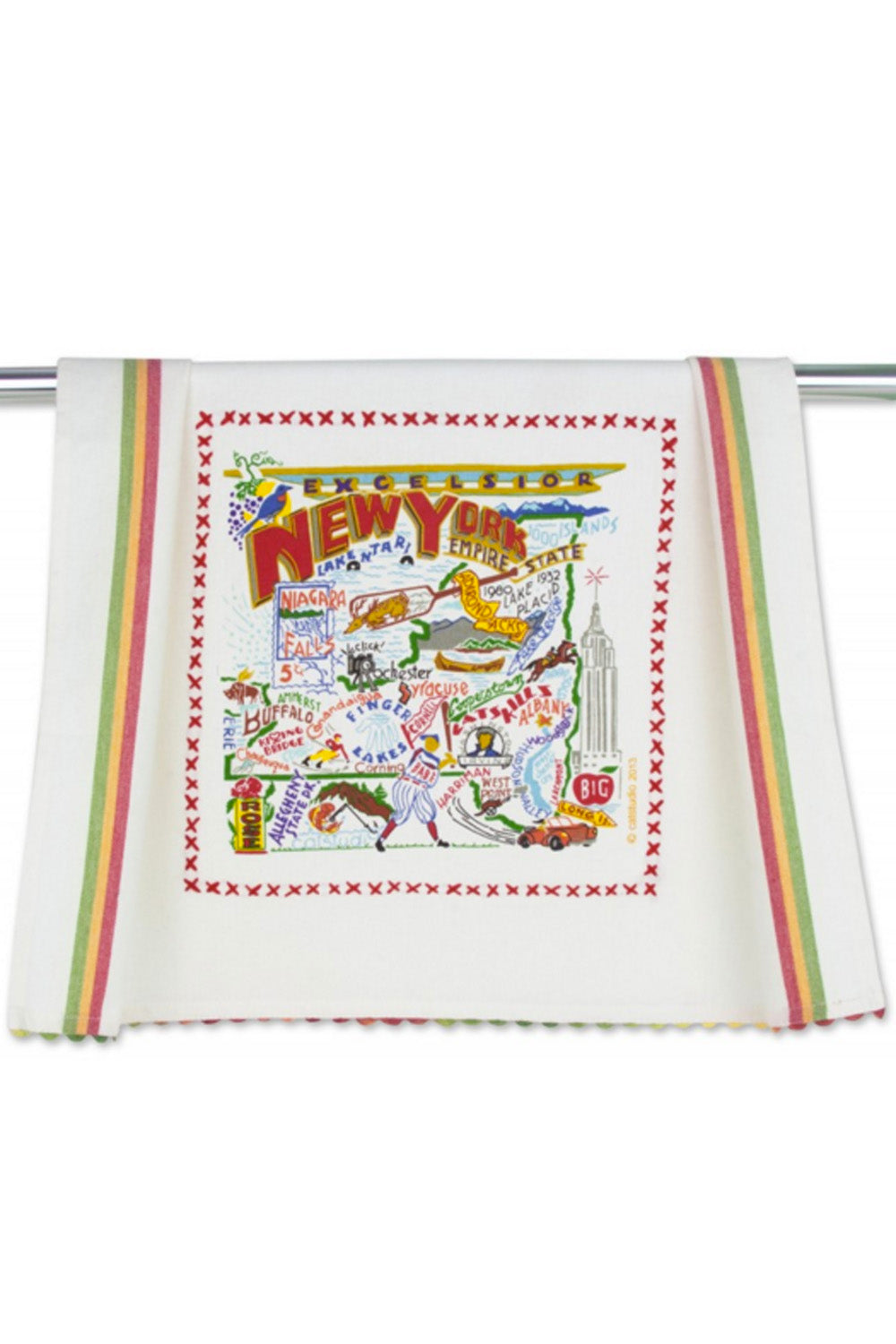 Embroidered Dish Towel - New York