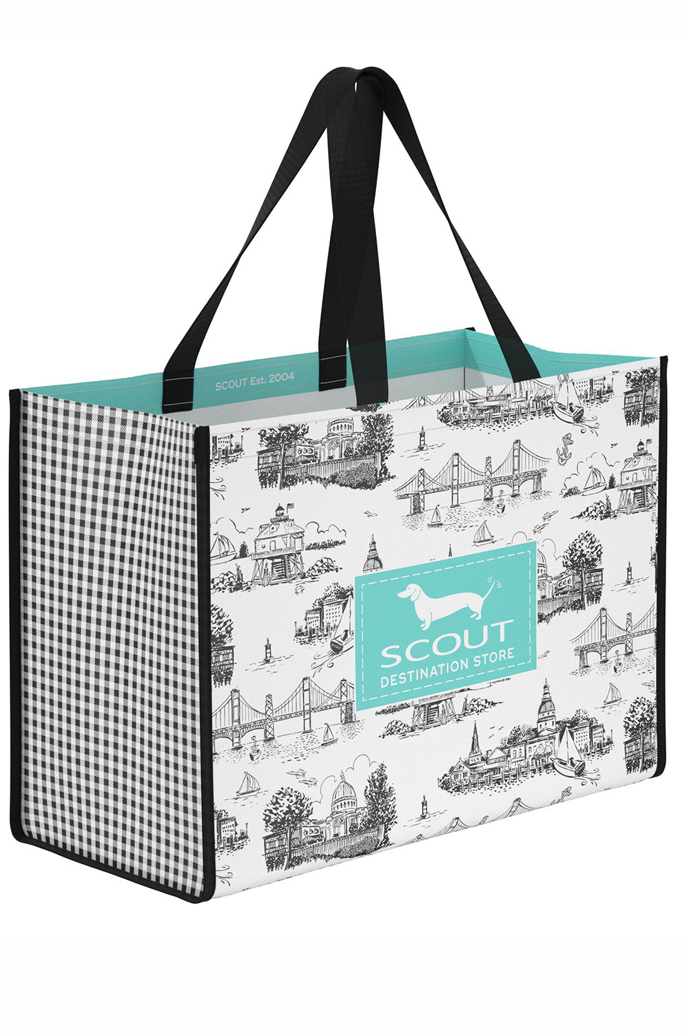 "Shopper Tote Bag - ""Exclusive Annapolis at Whimsicality in Black & White"""