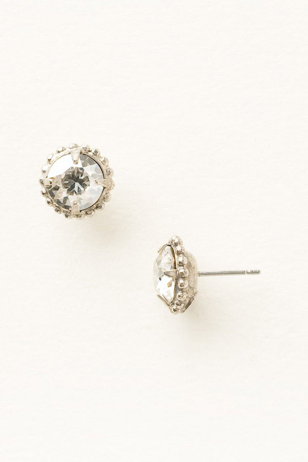 Simplicity Stud Earring - Silver Shade