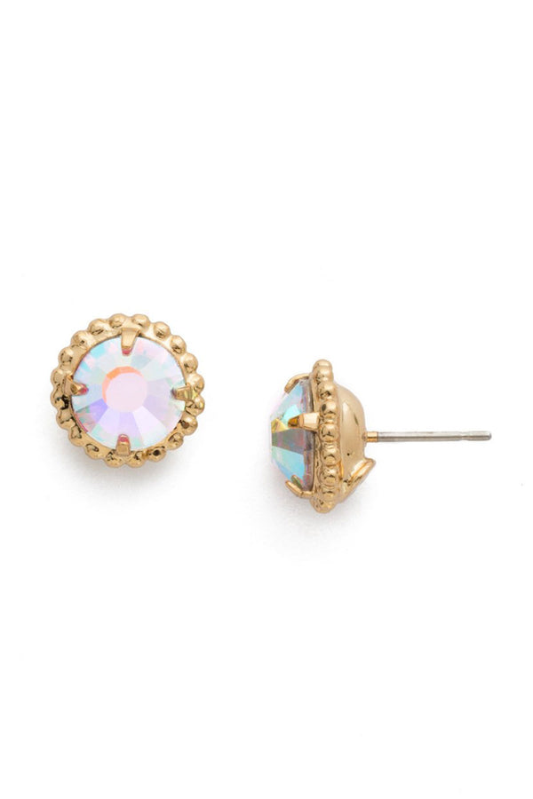 Simplicity Stud Earring EBY38 - Crystal Abalone