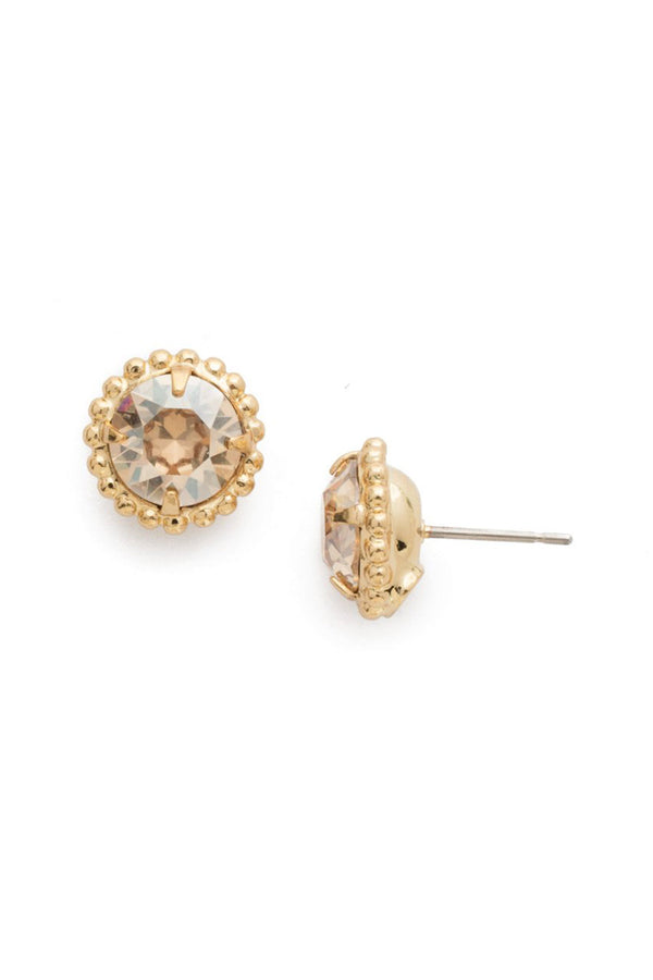 Simplicity Stud Earring EBY38 - Dark Champagne